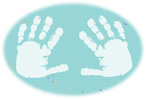 Illustration of handprints