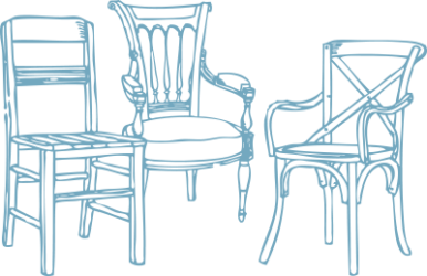 Illustration of 3 chairs