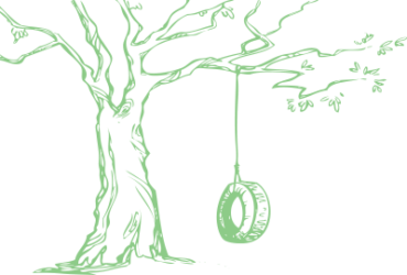 Illustration of tire swing